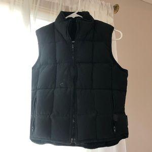 Express black puffer vest